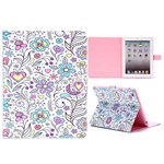 Fashion etui med magnetlukning til iPad 2/3/4 - Flowers